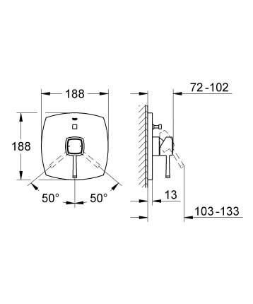 Смеситель для встраиваемой системы Grohe Grandera 19920000 серебристый