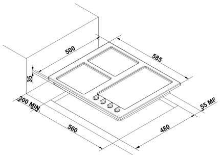 Встраиваемая варочная панель газовая Korting HG 630 CTSN Black