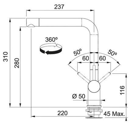 Смеситель для кухонной мойки Franke Active Plus 115.0373.821 оникс
