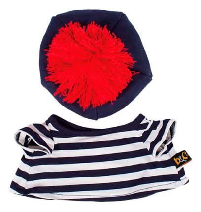 Мягкая игрушка BUDI BASA Ks25-010 Басик в тельняшке и берете 25 см