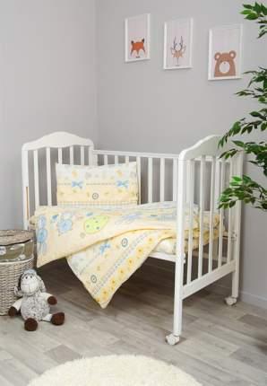 Комплект детского постельного белья Сонный гномик Акварель 3 предмета голубой