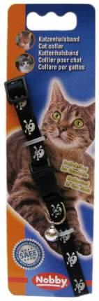 Ошейник для кошек NOBBY Ошейник д/кошек ПИРАТ черный 30020