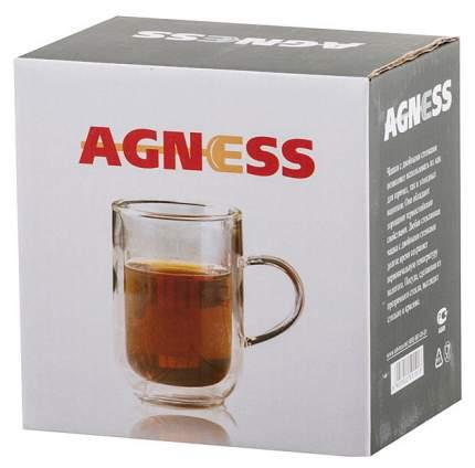 Кружка с двойными стенками Agness 250-101 Прозрачный