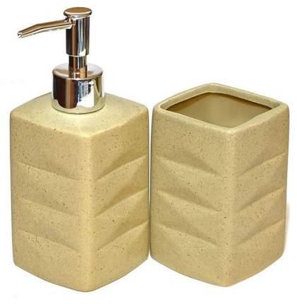 Дозатор для жидкого мыла Fissman 320 мл и стакан 320 мл в наборе