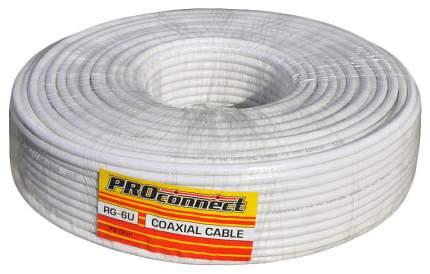 Кабель телевизионный Proconnect Coax - Coax 100м White (RG-6U 128202)