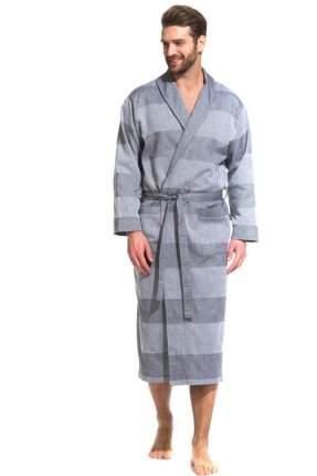 Легкий мужской халат из органического хлопка Pur Organique 417 (мужской) 417/серый/XXXXL