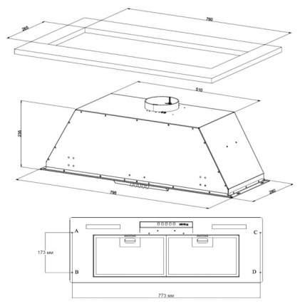 Вытяжка встраиваемая Korting KHI 9931 X Silver