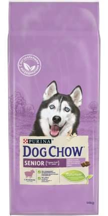 Сухой корм для собак Dog Chow Senior, старше 9 лет, ягненок, 14кг