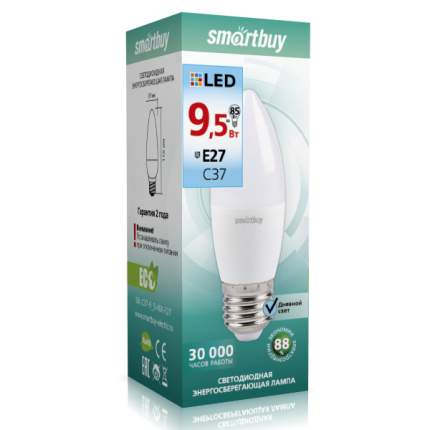 Лампа светодиодная Свеча Smartbuy 9,5W Е27 4000K