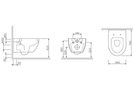 Подвесной унитаз AM.PM C111738WH чаша