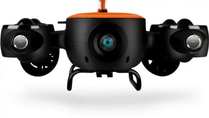 Подводный дрон Geneinno Titan 150M, черно-оранжевый
