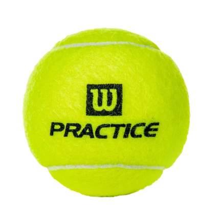 Мяч теннисный Wilson Practice 4 шт., желтый