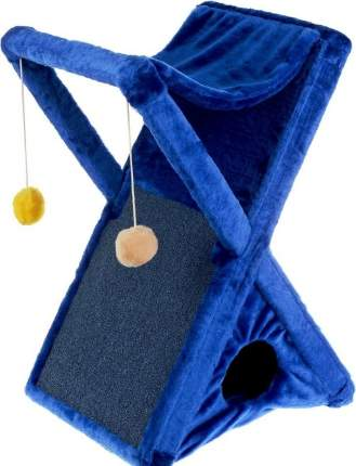 Домик для кошек ZooMark Икс, с когтеточкой и гамаком, в ассортименте, 40х40х75 см