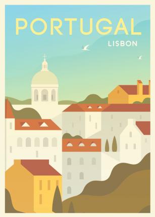 Постер Португалия 50х70 в тубусе