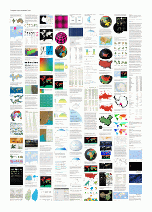 Плакат с инфографикой «Суша» 3.0 в тубусе
