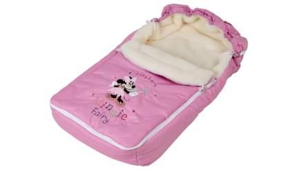 Конверт зимний меховой Polini kids Disney baby Минни Маус Фея, розовый