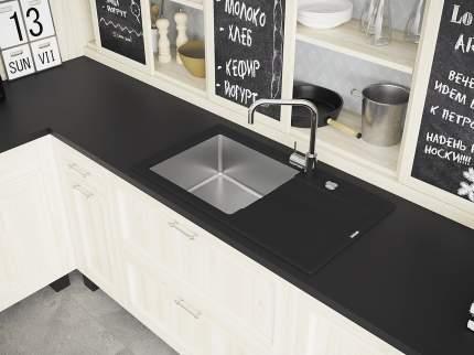 Мойка для кухни комбинированная Florentina Комби 860, антрацит