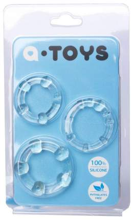Набор эрекционных колец A-toys прозрачный