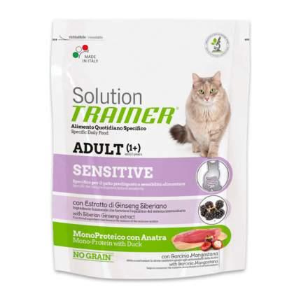 Сухой корм для кошек TRAINER Solution Sensitive, для аллергичных, утка, 1,5кг