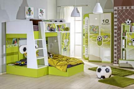 Платяной шкаф Hoff Бьянка 80316957 100х209,2х46, лайм/белый экспо