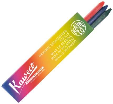 Грифели для карандашей Kaweco, цвет: красный, зелёный, синий, 5,6 мм, 3 штуки