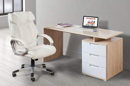 Компьютерный стол Hoff Руан 80274465, бежевый/белый