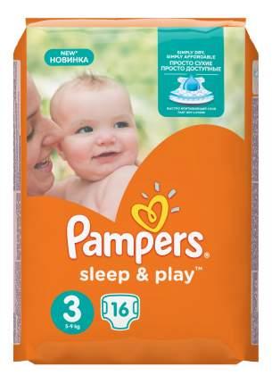 Подгузники Pampers Sleep & Play 3 (5-9 кг), 16 шт.