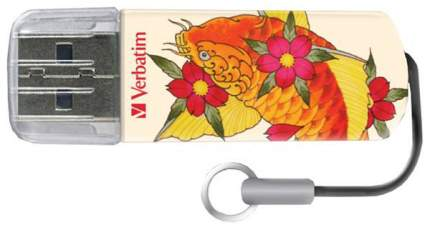 USB-флешка Verbatim Mini Tattoo Edition Рыба 8GB White