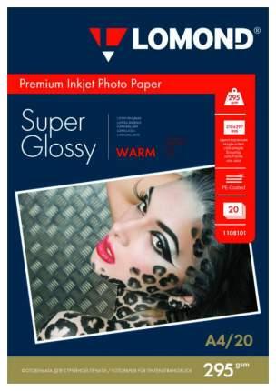 Фотобумага для принтера A4 LOMOND 295г/кв.м суперглянцевая 20 л