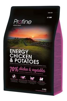 Сухой корм для собак Profine Energy Chicken & Potatoes, курица, картофель, 3кг