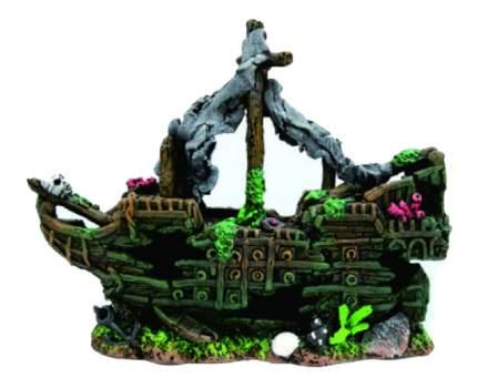 Грот для аквариума МЕЙДЖИНГ АКВАРИУМ Затонувший пиратский корабль, 26х7х18 см