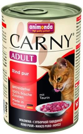 Консервы для кошек Animonda Carny Adult, говядина, 6шт, 400г