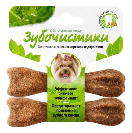 Лакомство для собак Деревенские лакомства Зубочистики, водоросли, для мелких пород, 36г