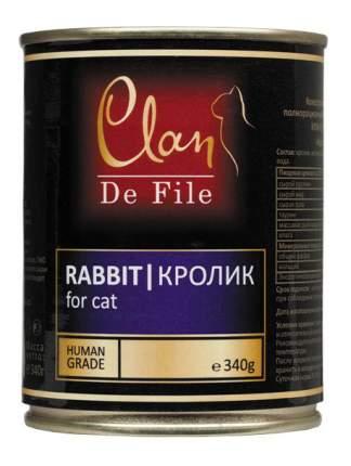 Консервы для кошек Clan De File, кролик, 12шт, 340г