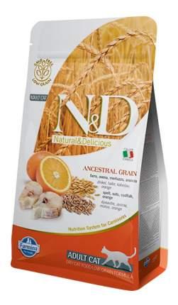 Сухой корм для кошек Farmina N&D, низкозерновой, треска и апельсин, 10кг