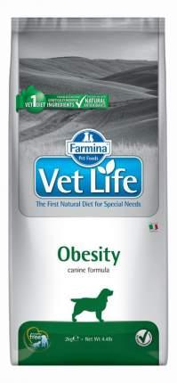 Сухой корм для собак Farmina Vet Life Obesity, при диабете, курица, 2кг