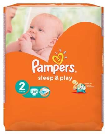 Подгузники для новорожденных Pampers Sleep & Play Mini 2 (3-6 кг), 37 шт.