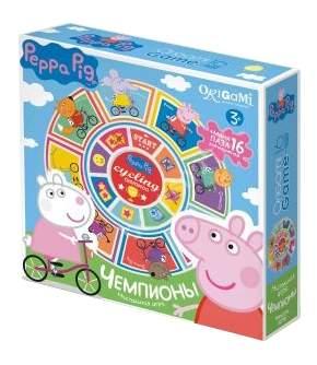Семейная настольная игра Origami Peppa Pig Карусель-лото, Чемпионы