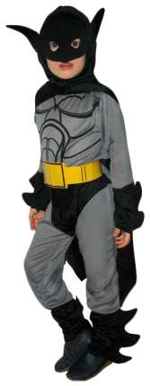 Карнавальный костюм Snowmen Бэтмен с желтым поясом E60454 рост 130 см