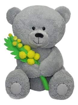 Мягкая игрушка LAVA Медвежонок Масик с мимозой музыкальный 17,5 см