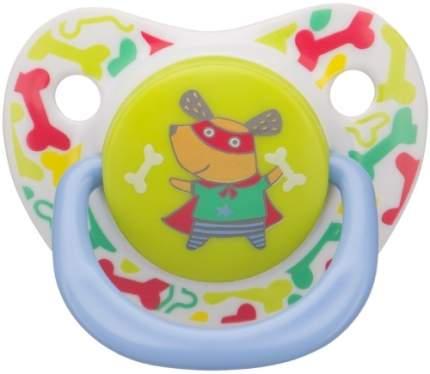 Силиконовая соска-пустышка Happy Baby Dog ортодонтической формы, 0-12 мес., 13012