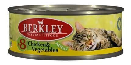 Консервы для кошек Berkley Adult Cat Menu, цыпленок, овощи, 100г