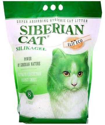 Наполнитель Сибирская кошка Элитный Эко силикагелевый 8 л без запаха