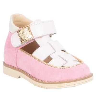 Туфли детские 25002 р.26 кожа, Карамель розовый