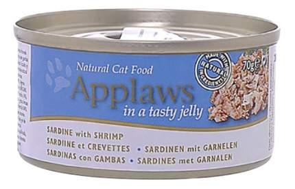 Консервы для кошек Applaws, сардина, креветки, 70г
