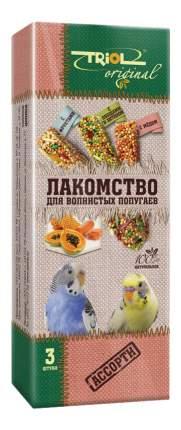 Лакомство для волнистых попугаев Triol Ассорти, 3 шт