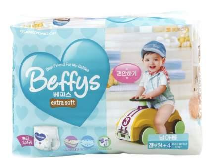 Подгузники Beffy's Extra Soft XXL для мальчиков более 17 кr 28 шт.