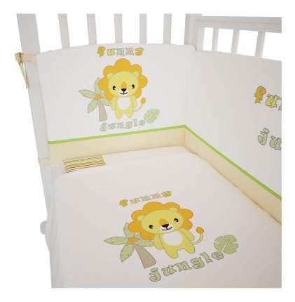 Комплект детского постельного белья Polini Джунгли 120 х 60