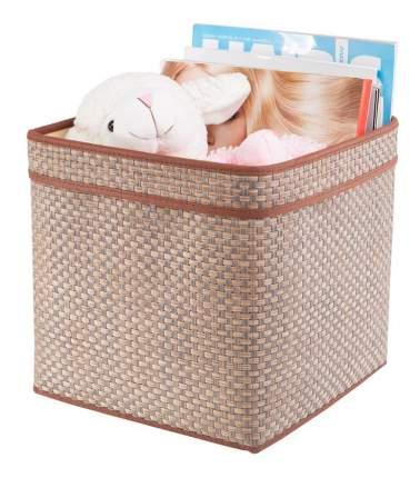 Корзина плетеная Casy Home Для хранения с ручками 25х25х25 см бежевый