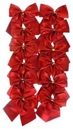 Набор декоративных бантов Д6 12шт красный